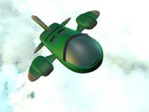卡通飞机飞行c4d模型