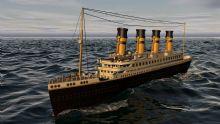 白天的泰坦尼克号船c4d模型