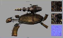机械乌龟maya模型