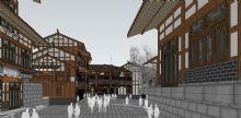 川东风格中式商业街模型,模型很细致