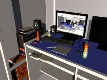 我的书桌maya场景,简单材质和灯光