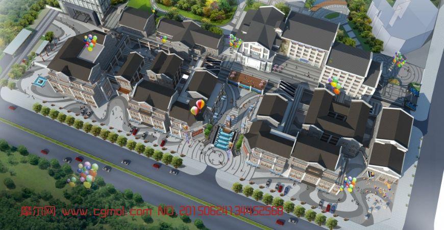 商业街建筑图片