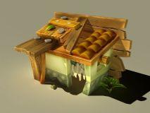 q版古建筑模型图片