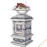 带花坛的柱子