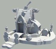 Q版餐厅模型