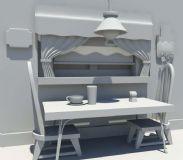餐桌,室内场景建模
