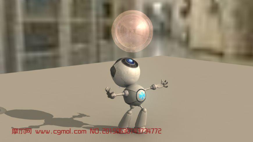 机器人顶透明气球