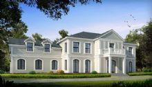 欧式建筑单体别墅