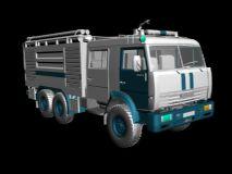 俄罗斯MAZ消防车精模