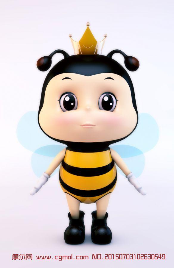 卡通小蜜蜂c4d模型