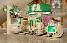 饮料店,商业内街模型