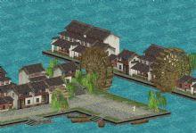 (游戏场景)水车小镇游戏模型