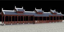 水上长廊模型,带调节好的VR灯光