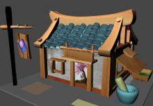 一个maya卡通房子