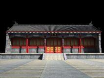 慈恩寺客堂,现场拍照取景取材质进行3D复原制作