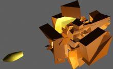 模拟子弹穿越爆炸的效果