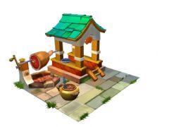 寺庙烤肉小场景