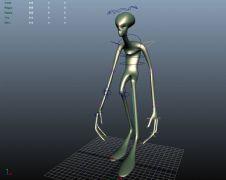 外星人行走绑定动画
