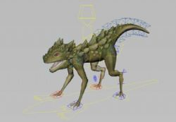 绑定好的蜥蜴maya模型