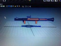 RPG火箭筒maya模型