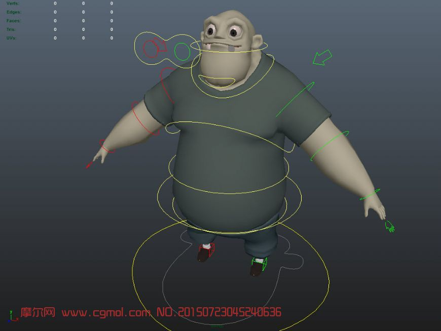 大胖子maya模型