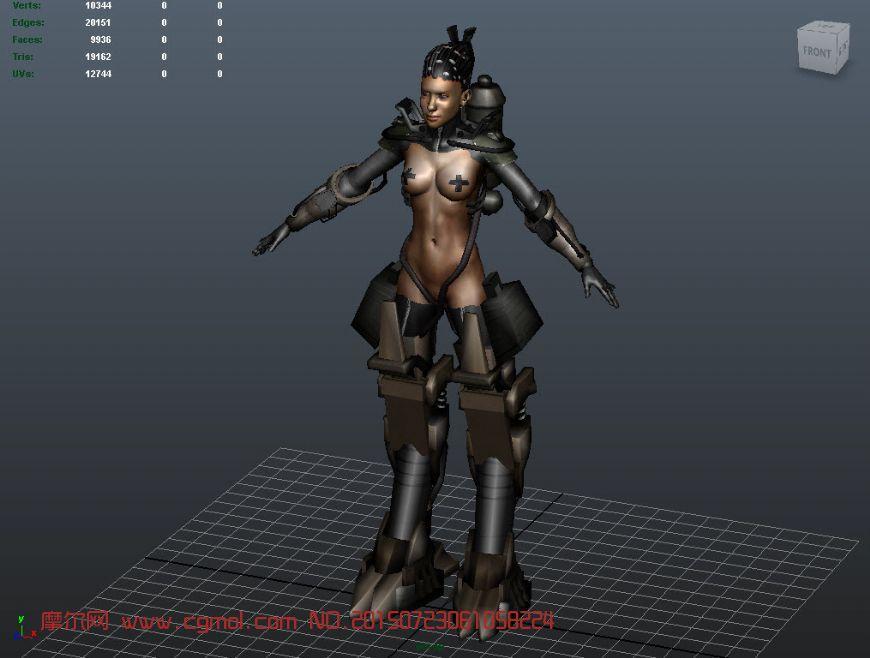 女性生物机器人maya模型