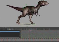 恐龙行走绑定maya模型