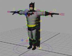 有绑定的蝙蝠侠maya模型
