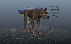 卡通狼maya模型