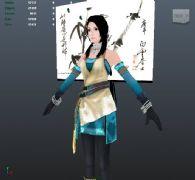 中���L古典美女3D模型