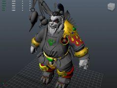 熊猫人,熊猫大侠maya模型