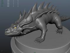 史前巨鳄maya模型