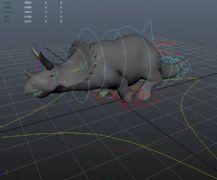 犀牛奔跑maya�赢�