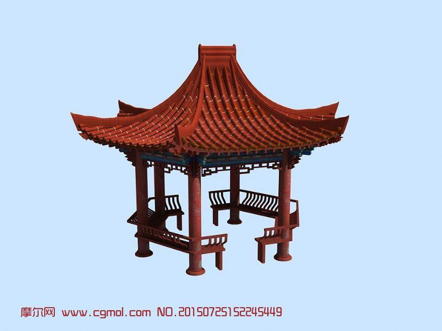 中式建筑  标签:中式古建亭子四角亭古亭图片