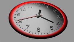 指针式挂钟-小时动画