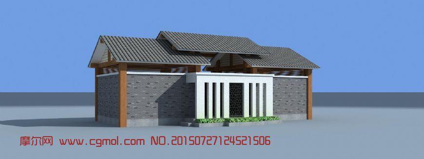 建筑模型 中式建筑  标签:公厕中式厕所 作品描述:精致的两个小公厕