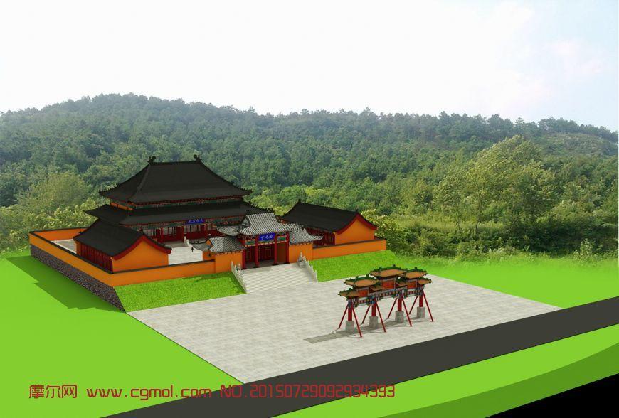寺庙牌楼建筑