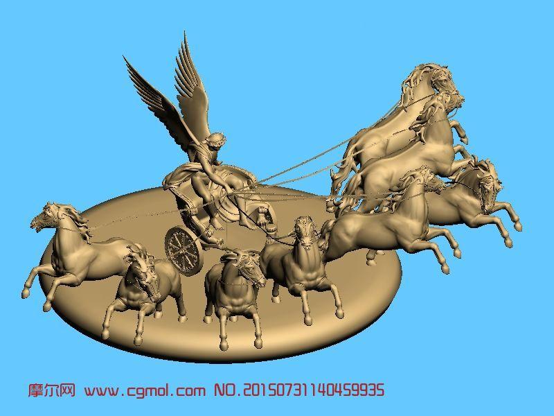 勃兰登堡门-万马奔腾雕塑