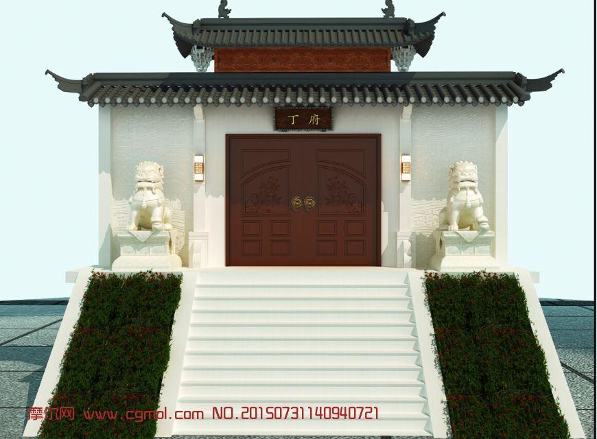 古代场景  标签:中式门头员外府衙