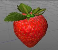 草莓c4d模型