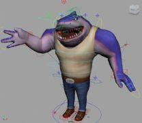 任性大鲨鱼maya模型