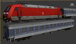 DB BR 145红色火车
