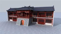 中式古建筑�蚺_