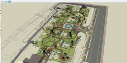 大型公园景观场景模型