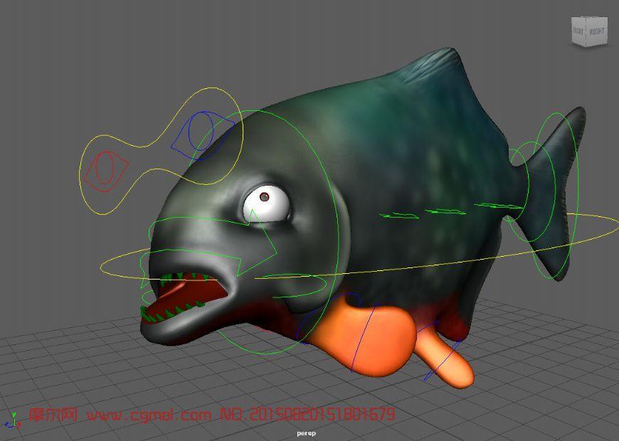 FishRigs-Piranahwithtextures,漫画动物,动物a漫画鸟无益鱼类图片