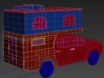 皮卡房车模型