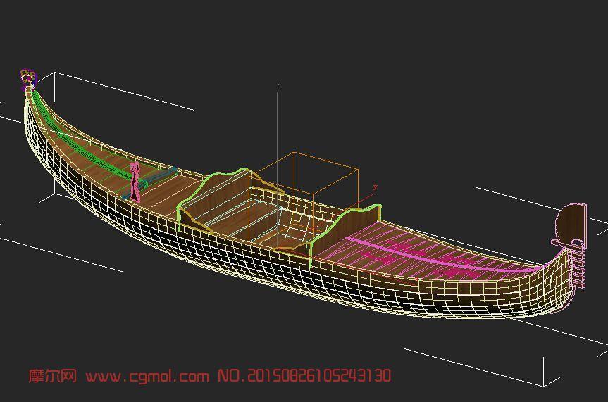 小船3D模型,船只,运输模型,3d模型下载,3D模型网,maya模型图片