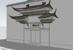 中式古典风格会所门头