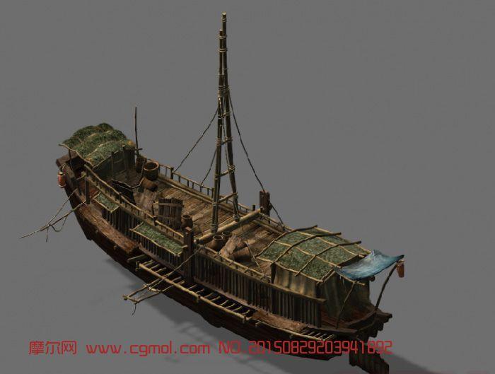 江南渔船3dmax模型