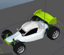 四驱玩具赛车maya模型,有绑定动画